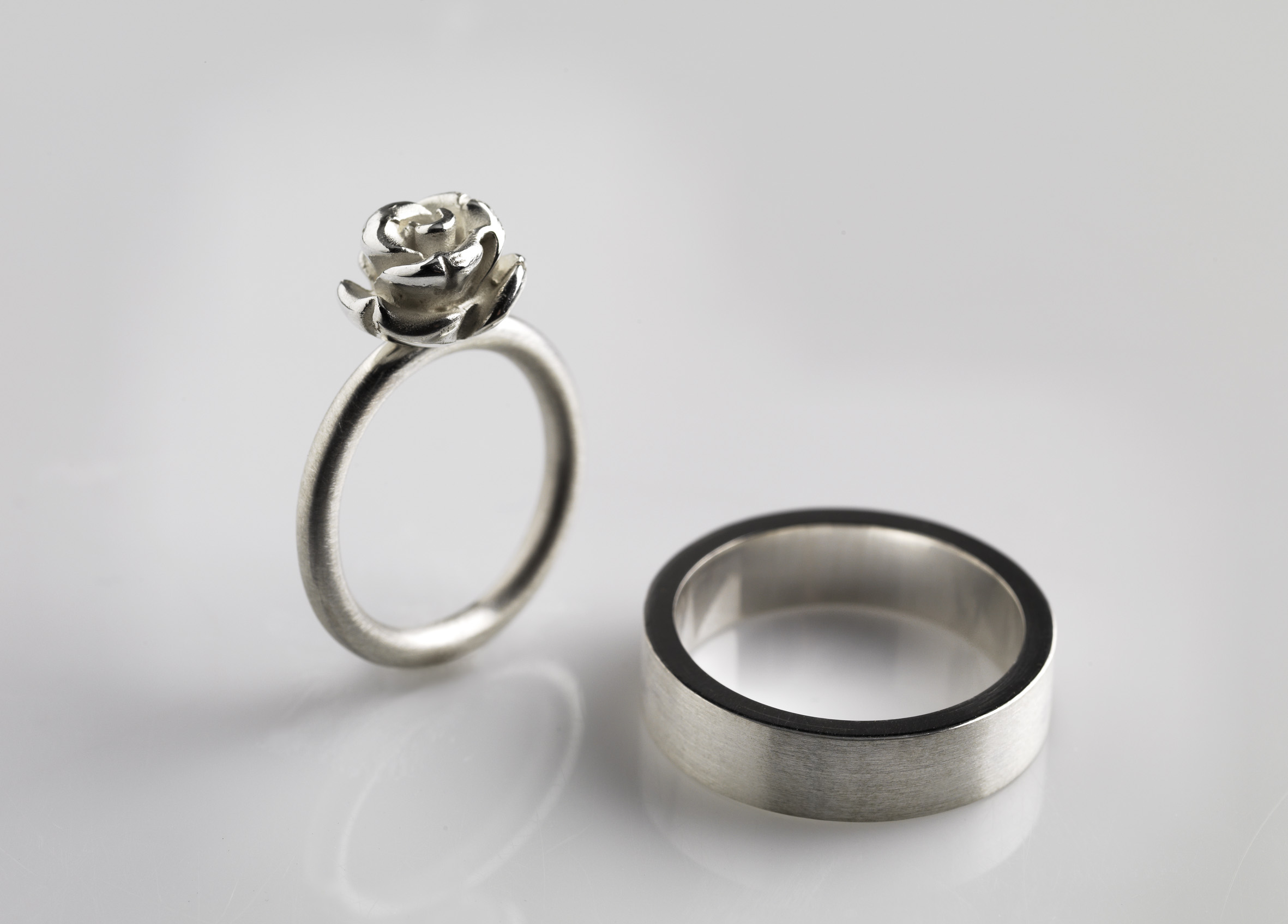 rings hammered bands wedding goldsmiths mccaul platinum mobius