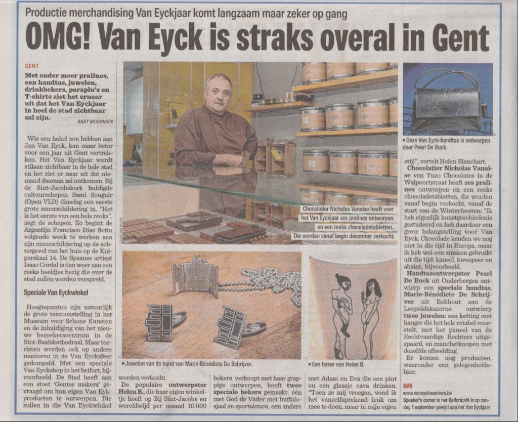 OMG! Van Eyck straks overal in Gent